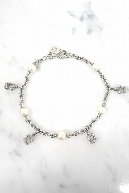 Justin Davis ブレスレット.COCO bracelet Crown Pearl