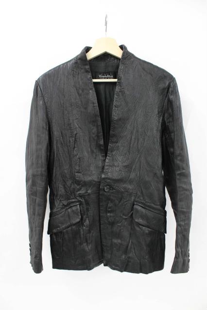 TORNADO MART ジャケット.シープレザーノーカラー