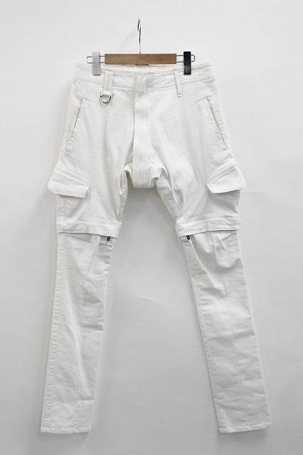 kiryuyrik パンツ.White Denim Attached Salouel Pants