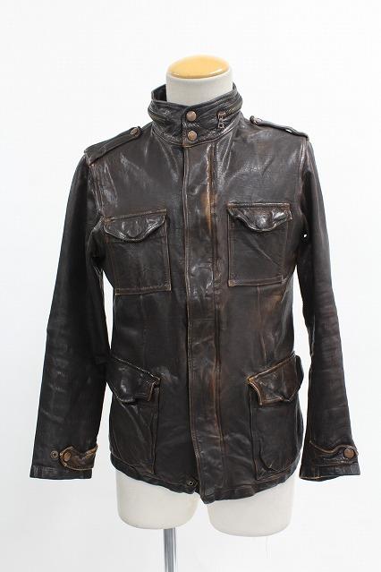 BACKLASH ジャケット.カーフタンニン製品染めM65ブルゾン