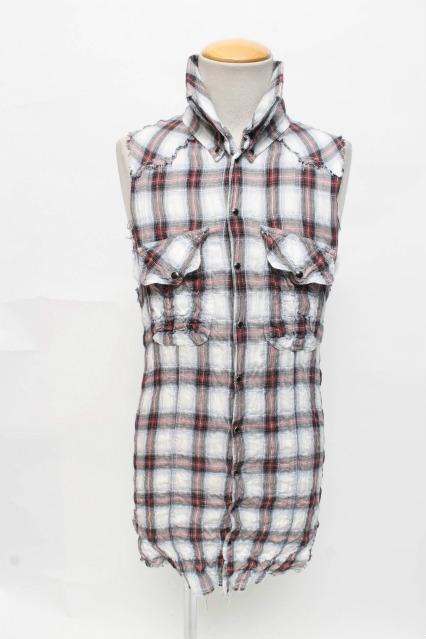 LGB シャツ.SHIRT-Gチェックノースリーブ