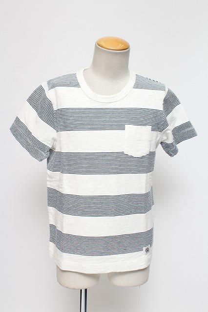 VANQUISH Tシャツ.ビッグスラブボーダークルーネック