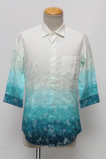 TORNADO MART シャツ.グラデーションフラワー七分袖