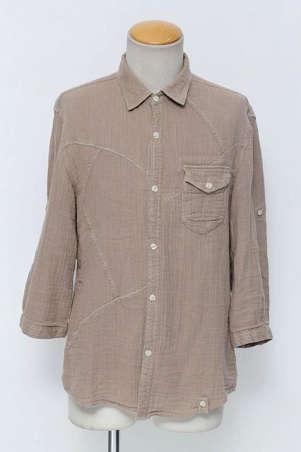 TORNADO MART シャツ.パッチワーク7分袖