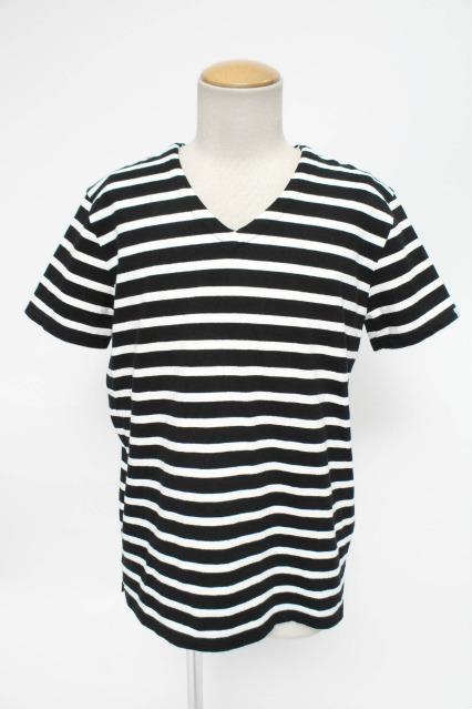 VANQUISH Tシャツ.ボーダーVネック