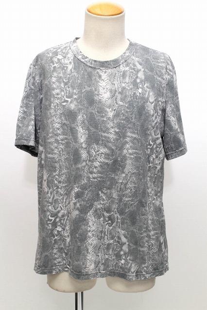 TORNADO MART Tシャツ.総柄パイソン