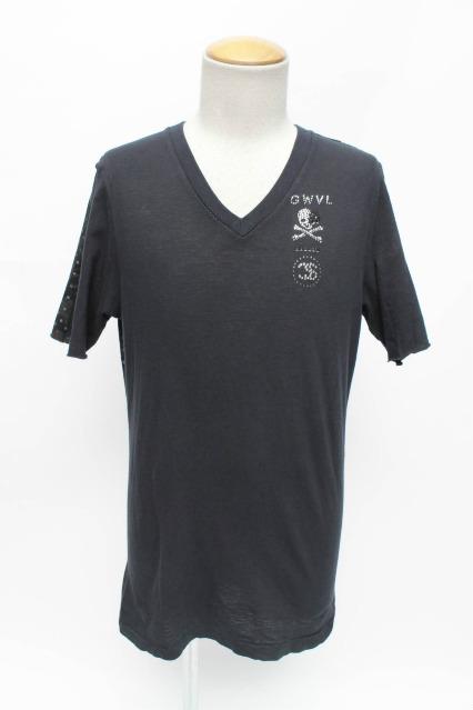 FranCisT_MOR.K.S. Tシャツ.バイカラーモノグラムスワロフスキー