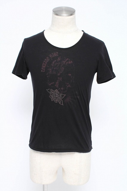TORNADO MART Tシャツ.スカルストーン