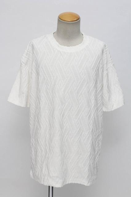 GOSTAR DE FUGA Tシャツ.Intonation 幾何学柄パイルジャガード半袖
