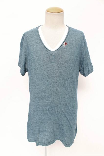 FranCisT_MOR.K.S. Tシャツ.ハイビスカルポイントVネック