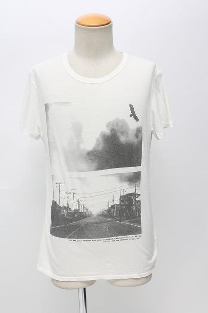 VANQUISH Tシャツ.BIRD & CITYフォト クルーネック
