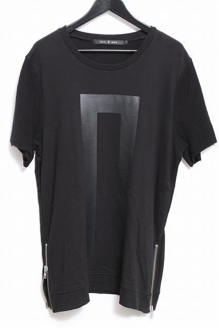 NO ID.BLACK Tシャツ.Cミニ裏毛NOフプリント半袖ルーズプルオーバー
