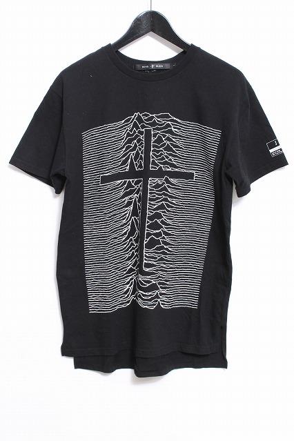 NO ID.BLACK x Tシャツ.JSFクロスプリントルーズ
