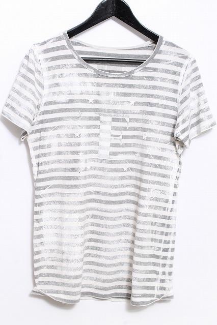 maxsix Tシャツ.スターサークルボーダー