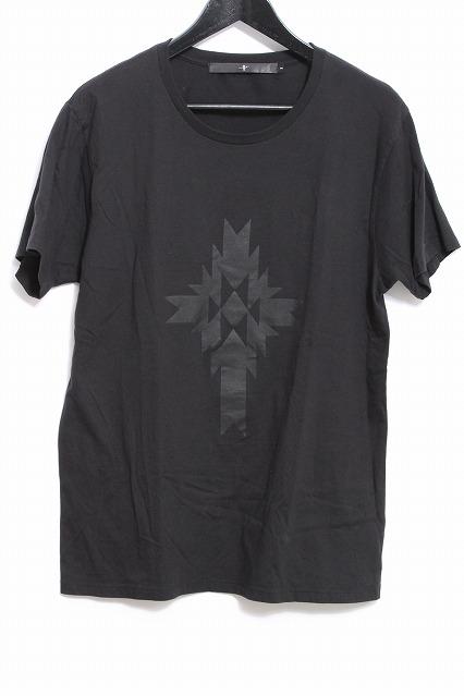 NO ID. Tシャツ.天竺オルテガクロスプリントCN
