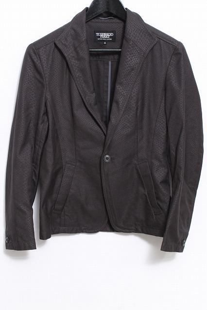 TORNADO MART ジャケット.ワイヤーカラーパイソンテーラード