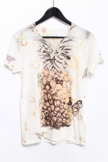 maxsix Tシャツ.パイナップルスカル