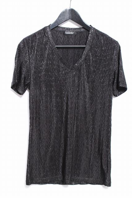 TORNADO MART Tシャツ.ヘリンボンプリーツエンボス