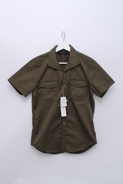 GOSTAR DE FUGA シャツ.Thirsty ミリタリーワイドカラー半袖シャツ