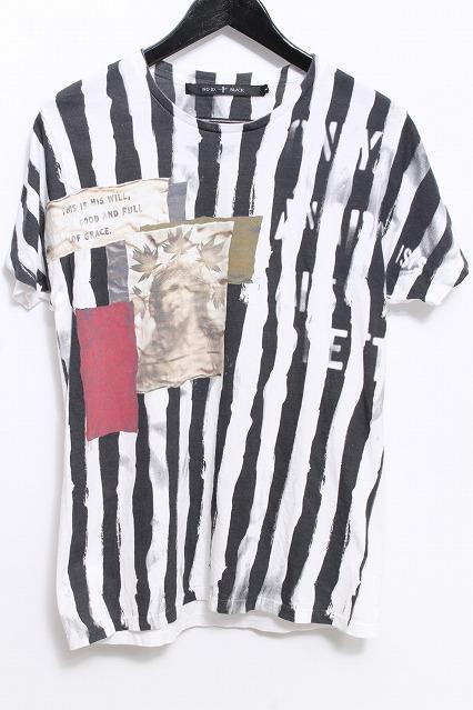 NO ID.BLACK Tシャツ.天竺AnarchyシャツプリントTシャツ