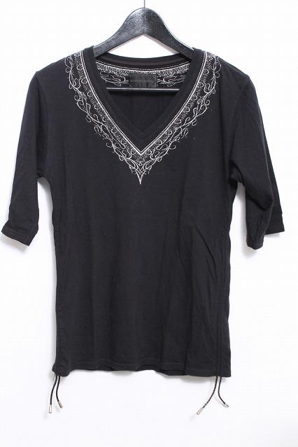 MURDER LICENSE Tシャツ.トライバル刺繍シャーリング