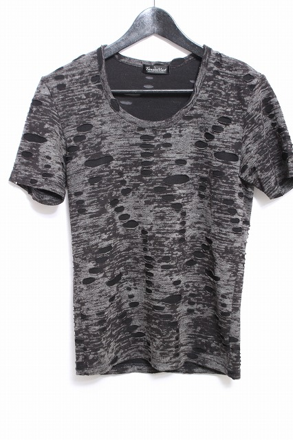TORNADO MART Tシャツ.ブロークンジャガード