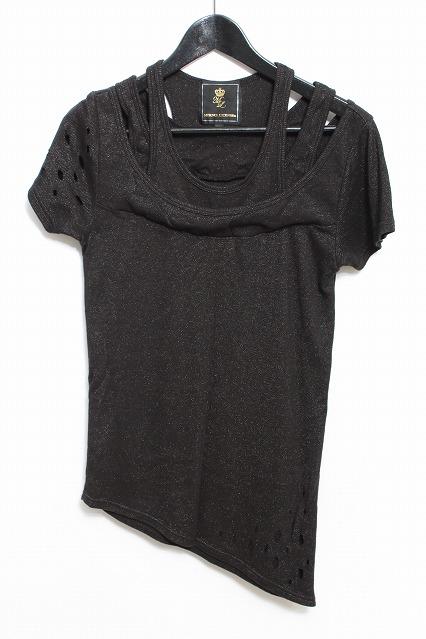 MURDER LICENSE Tシャツ.フェイクレイヤードダメージ