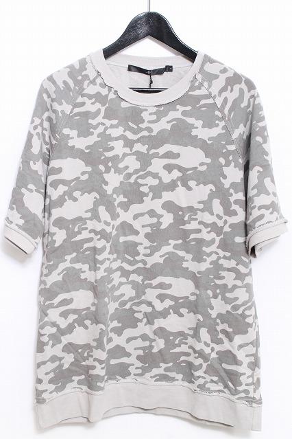 NO ID. Tシャツ.Cミニ裏毛カモフラプリントC/N-PO