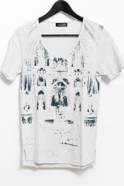 TORNADO MART Tシャツ.スーピマ天竺Uネックプリント
