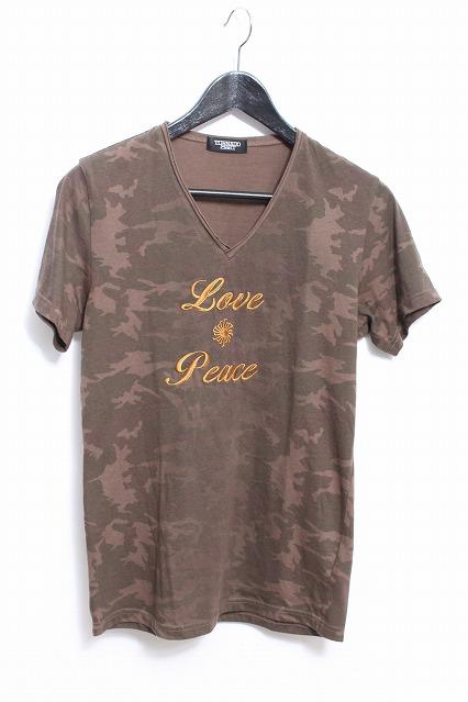 TORNADO MART Tシャツ.LOVE&PEACE CAMO