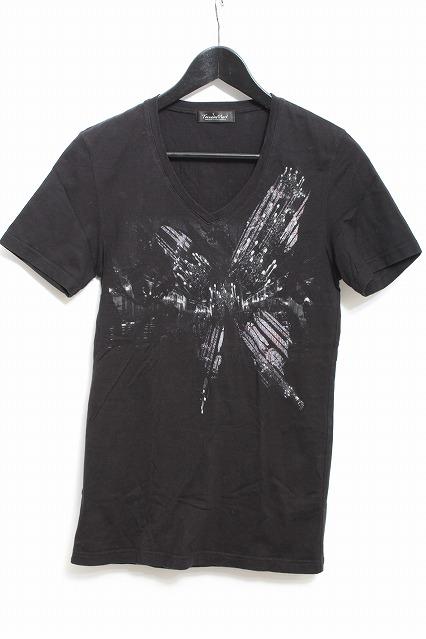 TORNADO MART Tシャツ.ステンドグラスバタフライ