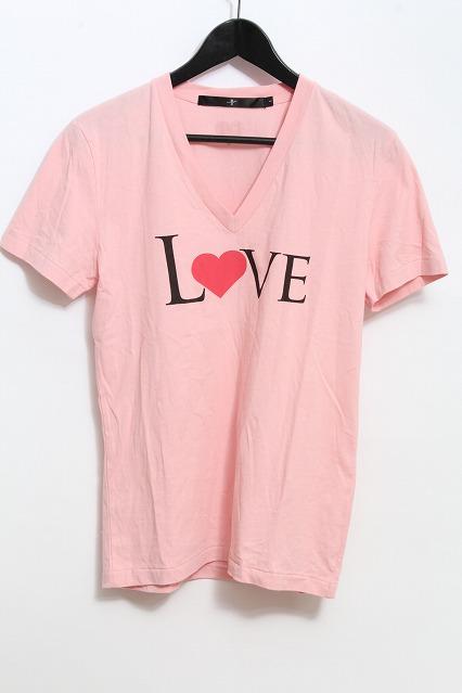 NO ID. Tシャツ.C度詰天竺LOVEプリントV