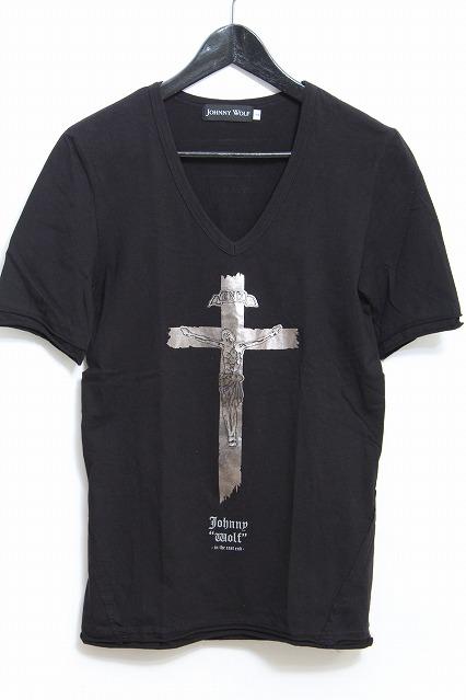 JOHNNY WOLF Tシャツ.クロス・オブ・ジーザス