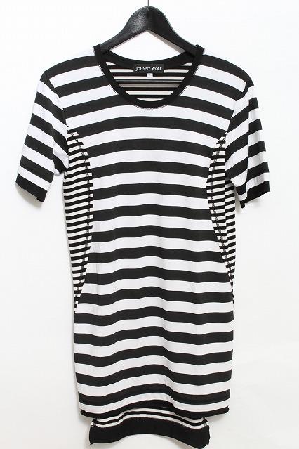 JOHNNY WOLF Tシャツ.MACHINEBORDER【マシーンボーダー】