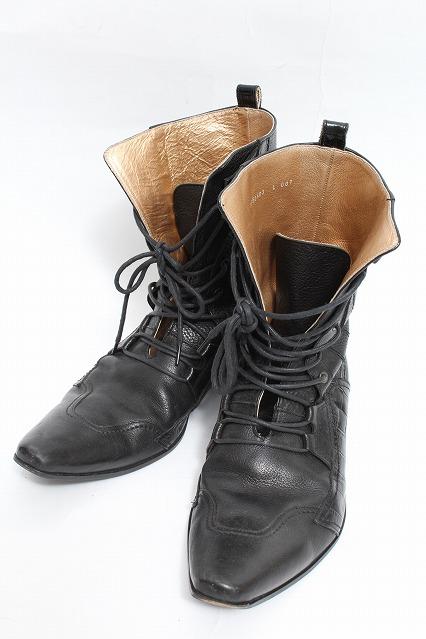 TORNADO MART ブーツ.クロコアクセント