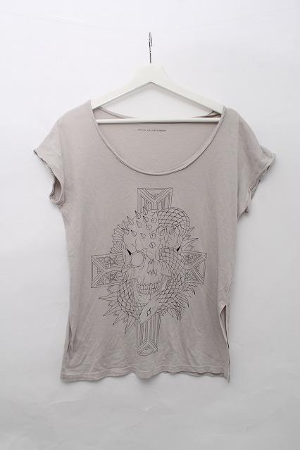 Moonage Devilment(清春) Tシャツ.スネークスカルプリント