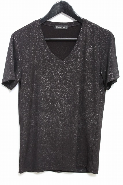 TORNADO MART Tシャツ.MIXカラーレオパードジャガード