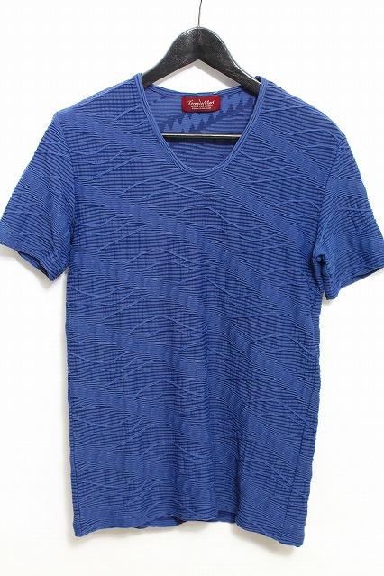 TORNADO MART Tシャツ.ダイヤタックJQボーダー Uネック