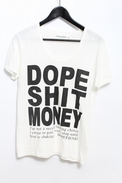 VANQUISH Tシャツ.DOPE SHIT MONEY Uネック