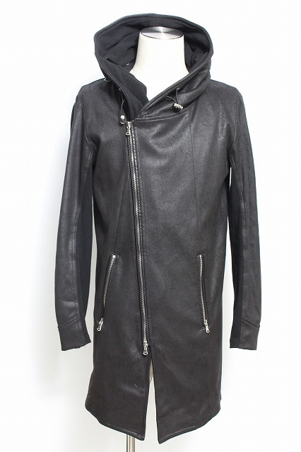 JOHNNY WOLF パーカー.パーカー.JOHNNY STAR-LEATHER LOOK レザールック ライダース