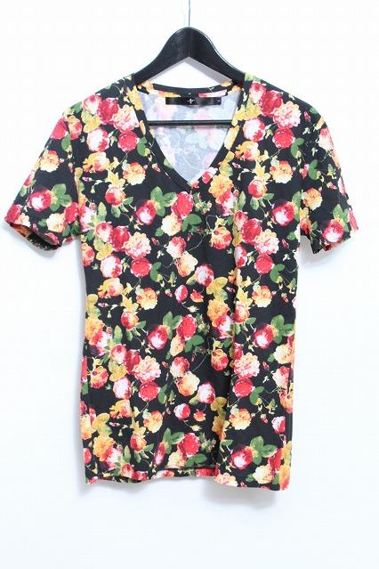 NO ID. Tシャツ.C天竺フラワープリントV/N