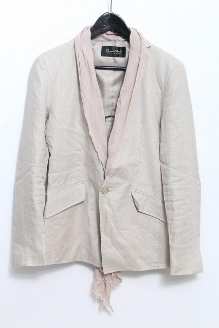 TORNADO MART ジャケット.ラミネートコーティングストール付き