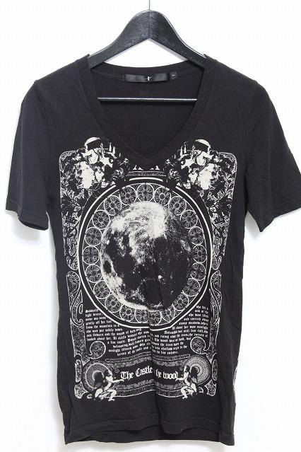 NO ID. Tシャツ.HC-MoonプリントVネック