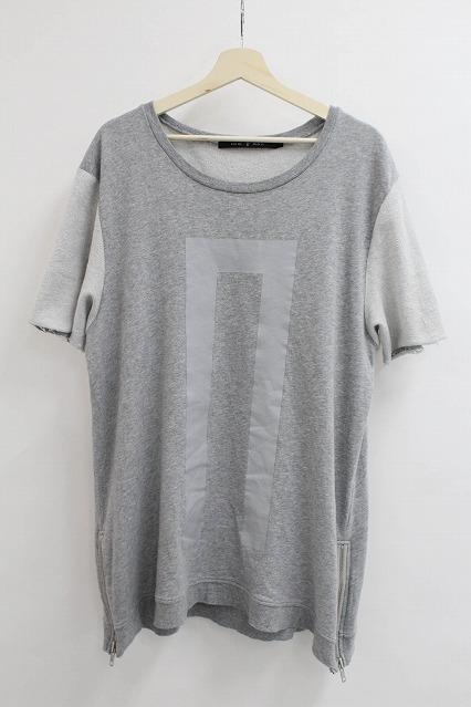 NO ID.BLACK Tシャツ.Cミニ裏毛NOプリント半袖ルーズPO