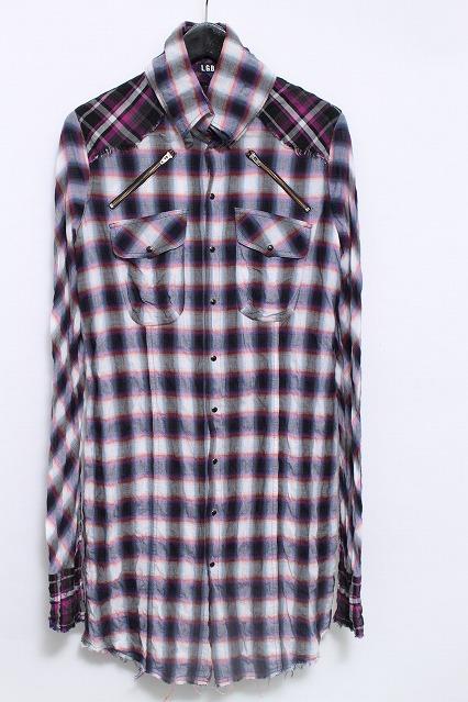 LGB シャツ.SHIRT-G チェックカットオフ