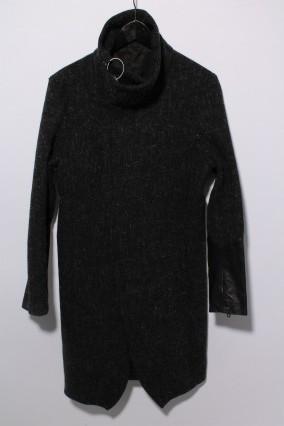 NO ID.BLACK コート.ウールケンピツイードハイカラーロング