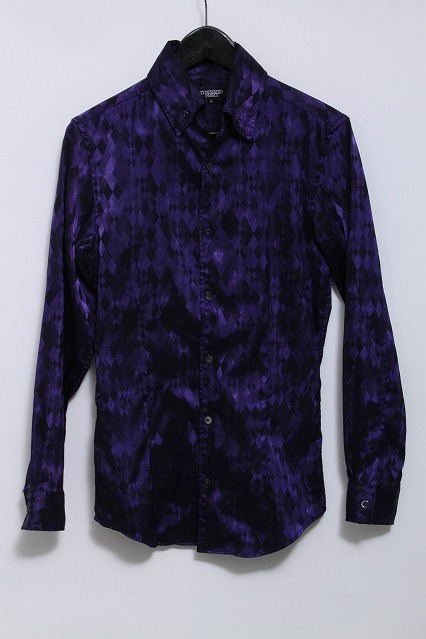 TORNADO MART シャツ.アーガイルジャガードドレス
