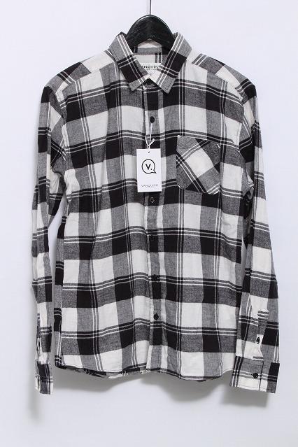 VANQUISH シャツ.ヘリンボンチェックスモールカラー