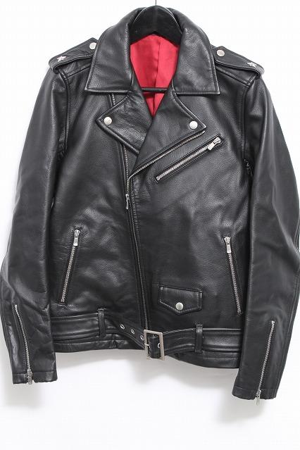 NO ID.BLACK ジャケット.カウレザーワンスターWライダース