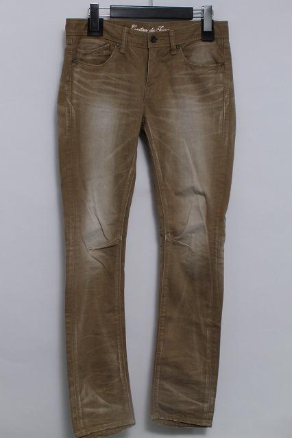 GOSTAR DE FUGA パンツ.Glanz 立体加工硫化染めチノ